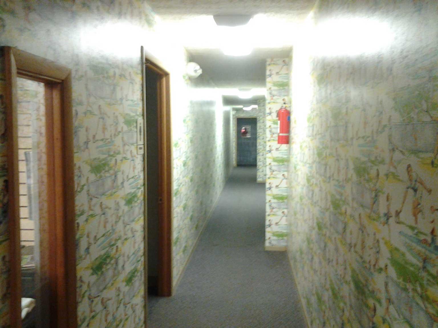 rec-center-wallpaper-wall-before