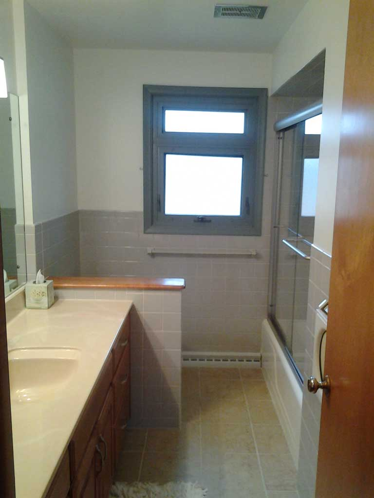 Bathroom remodel after all cleanall clean for Bathroom remodel 2015