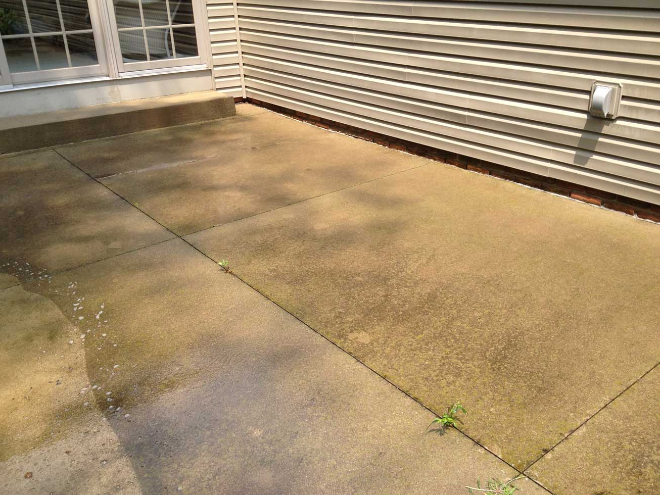 Concrete patio after all cleanall clean for What to clean concrete with