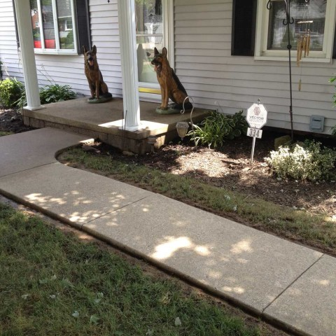 Concrete Walkway After