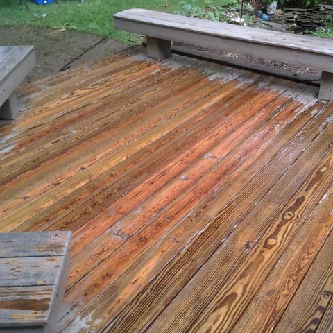 Deck Stain Prep After