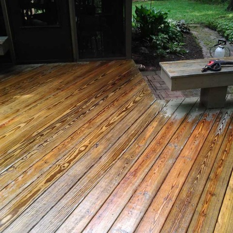 Deck Stain Prep After 2