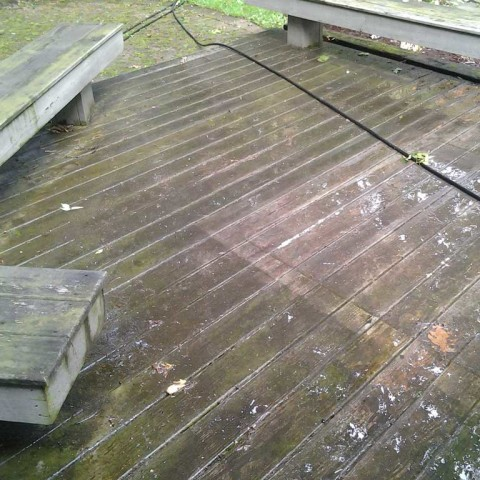Deck Stain Prep Before