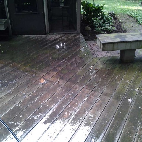 Deck Stain Prep Before 2
