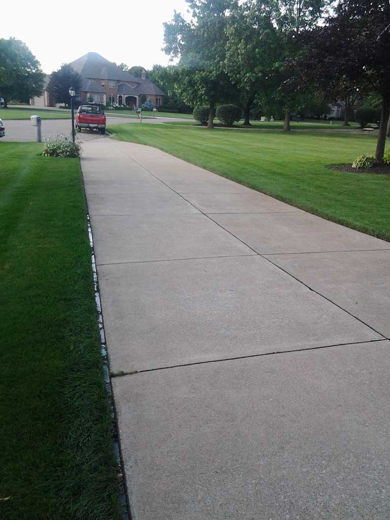 Driveway cleaning after all cleanall clean for Cement driveway cleaner
