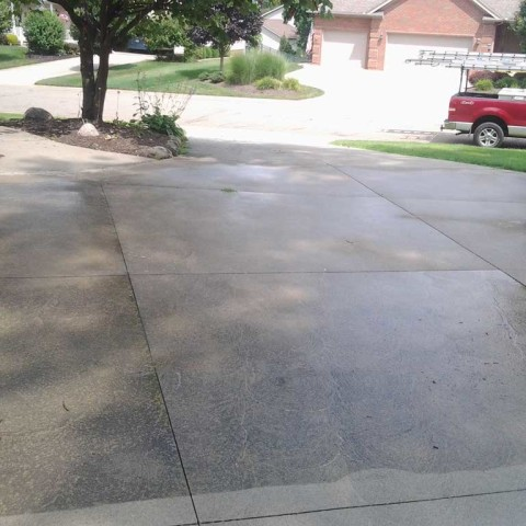 Driveway Cleaning Before 2