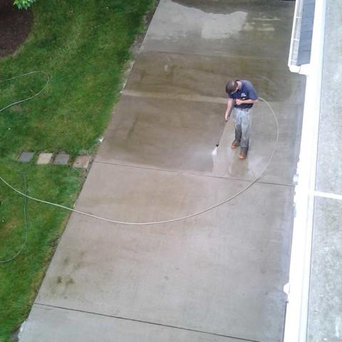 Powerwashing Concrete Patio