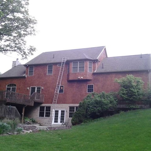 Tall House Gutter Cleaning